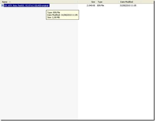 copy paste file firmware ke flash disk yg sudah bersih
